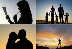 Images of couples and families